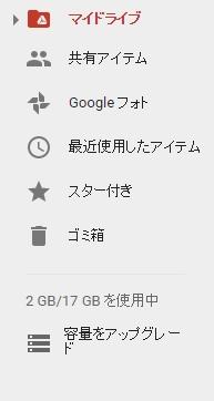 googleドライブの容量